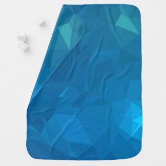 Mantita Para Bebé Diseños geométricos elegantes y modernos - azul