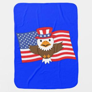 Mantita Para Bebé Eagle calvo americano