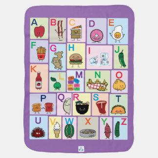 Mantita Para Bebé El alfabeto de ABC que aprende las comidas felices