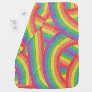 Mantita Para Bebé El arco iris bohemio descolorado raya al bebé de