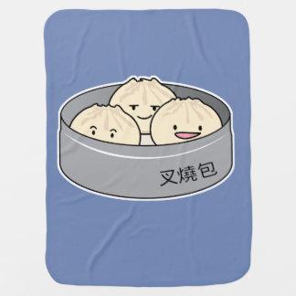 Mantita Para Bebé El desayuno chino del dim sum del bollo del cerdo