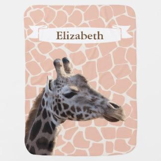 Mantita Para Bebé El nombre realista del bebé de la jirafa y de la