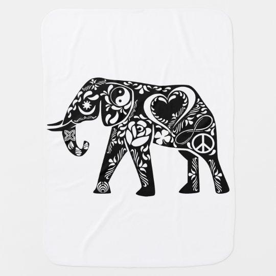 Mantita Para Bebé Elefante del amor de la paz
