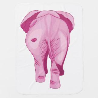 Mantita Para Bebé Elefante rosado SWAK