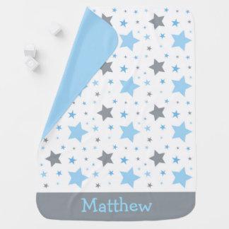Mantita Para Bebé Estrella azul del centelleo