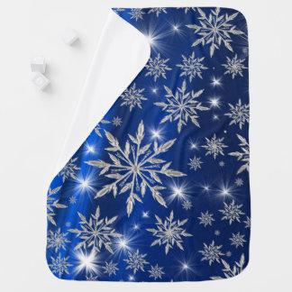 Mantita Para Bebé Estrellas azules del navidad con el cristal de