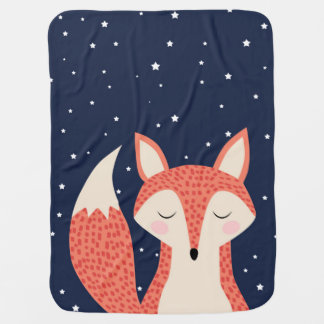 Mantita Para Bebé Estrellas de la noche del zorro el dormir