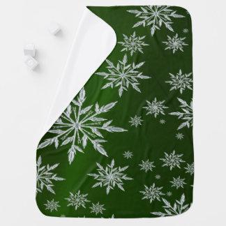 Mantita Para Bebé Estrellas verdes del navidad con el cristal de