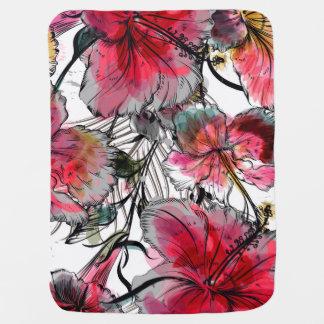 Mantita Para Bebé Flores tropicales del hibisco