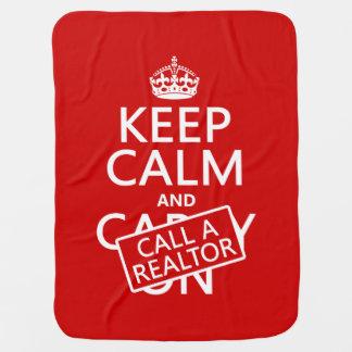Mantita Para Bebé Guarde la calma y llame un agente inmobiliario