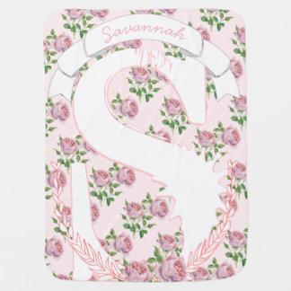 Mantita Para Bebé Guirnalda conocida Patten color de rosa femenino