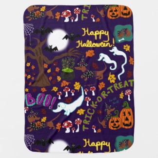 Mantita Para Bebé Halloween del Dachshund de la diva