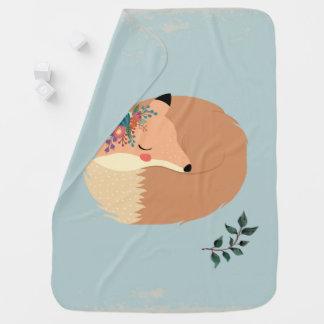 Mantita Para Bebé Hojas lindas de la primavera y arbolado del Fox