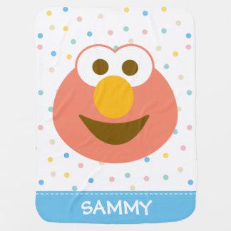 Mantita Para Bebé La cara grande el   del bebé de Elmo añade su