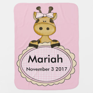 Mantita Para Bebé La jirafa personalizada de Mariah
