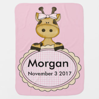 Mantita Para Bebé La jirafa personalizada de Morgan