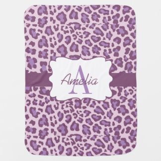 Mantita Para Bebé La lavanda púrpura del estampado leopardo Swaddle