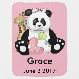 Mantita Para Bebé La panda personalizada de la tolerancia