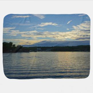 Mantita Para Bebé Lago de la puesta del sol del azul de Ozarks