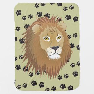 Mantita Para Bebé León rastros de león improntas de león Tatzen de m