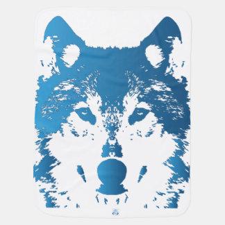 Mantita Para Bebé Lobo de los azules claros del ilustracion