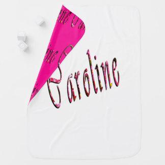 Mantita Para Bebé Logotipo conocido floral de Caroline,