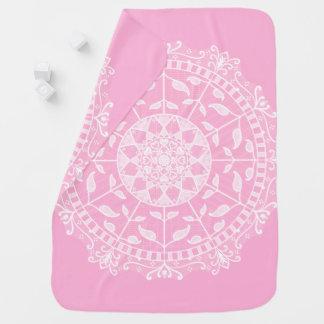 Mantita Para Bebé Mandala color de rosa