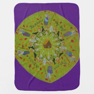 Mantita Para Bebé Mandala de Yaga del bizcocho borracho