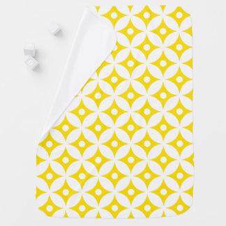 Mantita Para Bebé Modelo de lunares amarillo y blanco moderno del