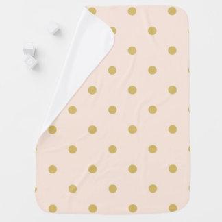 Mantita Para Bebé Modelo de lunares femenino moderno del rosa y del