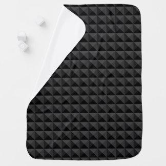 Mantita Para Bebé Modelo geométrico moderno de la casilla negra