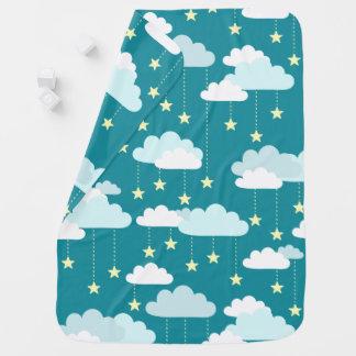 Mantita Para Bebé Modelo lindo de las estrellas y de las nubes el