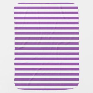 Mantita Para Bebé Modelo púrpura y blanco de la raya