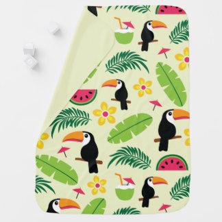 Mantita Para Bebé Modelo tropical del verano de Toucan