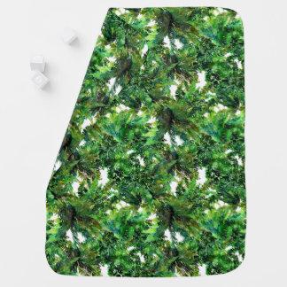 Mantita Para Bebé Modelo verde de la caída del bosque del helecho de