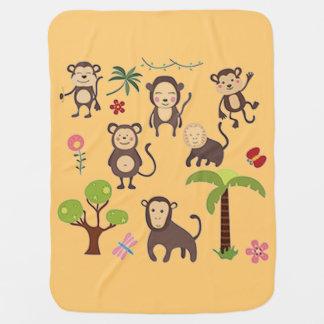 Mantita Para Bebé Monos felices