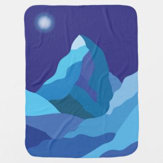 Mantita Para Bebé Montaña helada de Cervino del invierno