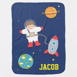 Mantita Para Bebé Nave de Rocket, astronauta, espacio exterior, para