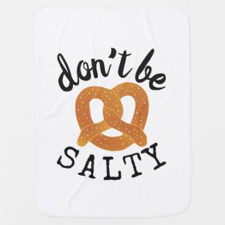 Mantita Para Bebé No sea retruécano divertido salado del pretzel