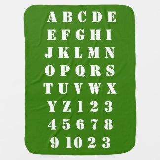 Mantita Para Bebé Números de los alfabetos de los niños del bebé de