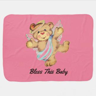Mantita Para Bebé Oso del ángel
