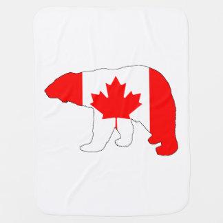 """Mantita Para Bebé Oso polar """"Canadá """""""