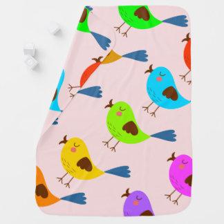 Mantita Para Bebé Pájaro lindo del vector