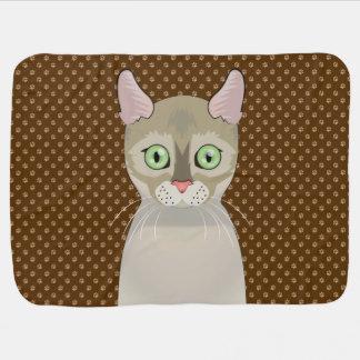 Mantita Para Bebé Patas del dibujo animado del gato de Singapura