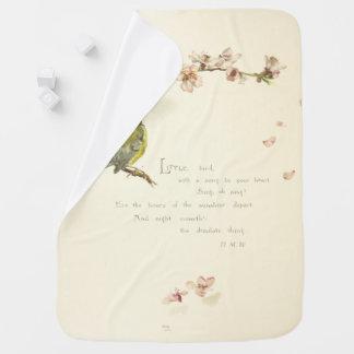 Mantita Para Bebé pequeño poema del pájaro