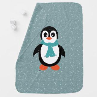Mantita Para Bebé Pingüino combinado del bebé en ráfaga