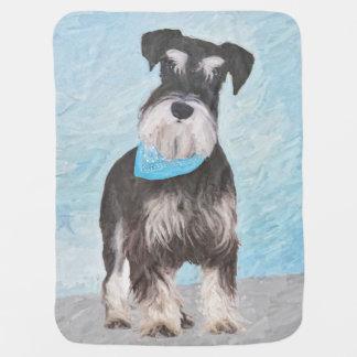 Mantita Para Bebé Pintura (miniatura) del Schnauzer - perro original
