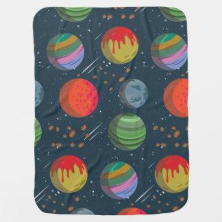 Mantita Para Bebé Planetas coloridos en espacio exterior