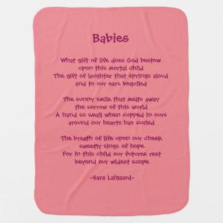 Mantita Para Bebé Poema de los bebés