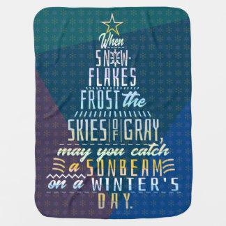 Mantita Para Bebé Poema de los copos de nieve del árbol de navidad